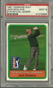 1981 Donruss Golf Jack Nicklaus PSA 9 Statistical Leader MINT Short Printed