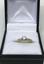 Good Quality  .40 Diamond Solitaire 18ct Gold Ring Finger Size    i 1/2