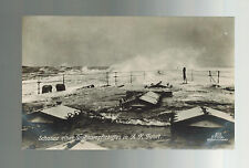 Mint RPPC Postcard Germany Navy Kriegsmarine Warship at Sea in Storm
