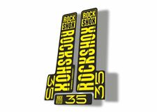 Rock Shox 35 2018 Fork Decal Mountain Bike Cycling Sticker Adhesive Yellow