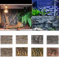 3D Foam Rock Reptile Stone Aquarium Fish Tank Background Backdrop Board Decor AU