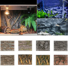 3D Foam Rock Reptile Stone Aquarium Fish Tank Background Backdrop Board Decor AU