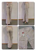 Big Blue Vintage Jeans Mod. Nancy Hose Beige W26 L34 Neu mit Etikett