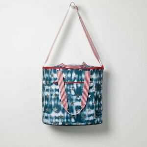 Thirty-One Round About Cooler Tote in Tie Dye Stars NIP