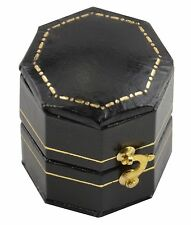 3 Jewellers Luxury Antique Style Leatherette Hexagon Shaped Jewellery Ring Boxes