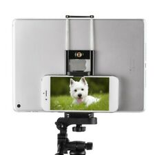 2 in 1 Universal Tripod Stand Bracket Holder Clip Mount For ipad Cell Phone New