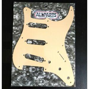 """Pickguard SSS pour US vintage 54-59' Stratocaster 8 trous 1ply Crème .060"""" 1,524"""