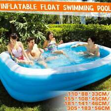 Play Day Rectangular Inflatable Family Kids Swimming Pool Play Ground 4 Size