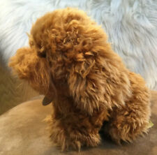 "Miyoni Sitting Labradoodle Puppy Dog Plush Stuffed Animal by Aurora 11"" brown"