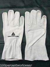 Size 07/SMALL Delta Plus GFA402 Lamb Skin Leather Work Safety Gloves Unlined