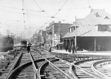 Photo. 1910s. Montreal, Canada. Mt Royal & Park Aves - New Tram Tracks