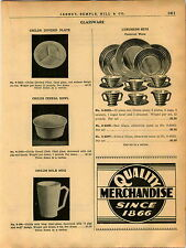1940 AD China Carnival Ware Green Opal Red Yellow Glass