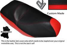 Rojo Y Negro Custom encaja Piaggio xevo 125 Doble Cuero Funda De Asiento