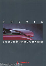 Toyota Previa Zubehör Prospekt 2 94 brochure 1994 Auto PKWs Japan Autoprospekt