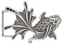 Gürtelschnalle Fisch Koi mit Schmuck Steinen