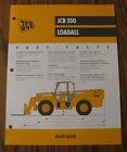 JCB 550 Loadall Spec Sheet Brochure Literature