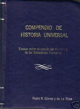 Compendio De Historia Universal Civilization 1945 Sp Barcelona