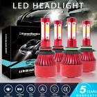4X 4SIDE 9005 9006 LED Headlight Kit Combo Bulb 6500K High Low Beam Super White