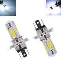 2x H4 9003 COB LED Ampoule Blanc Salut / Feu de croisement Auto SUV Phare 6000K