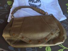 MCM - exquisite Damenhandtasche gold
