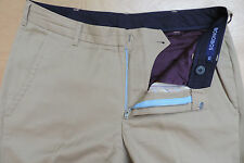 BONOBOS Khaki 100% Wool Athletic Straight Fit Flat Front Pants 33x30 Made in USA