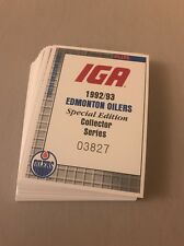1992-93 IGA GROCERY EDMONTON OILERS TEAM SET - MINT !!