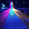 LED Lichternetz Vorhang Garten LEDs Lichter Netz Beleuchtung Deko Weihnachten