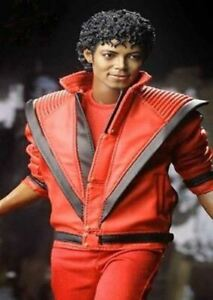 Michael Jackson Thriller Mens Real Red Leather Jacket - High Quality