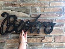 BISTRO Sign Restaurant Diner Coffee Shop Cafe Wood