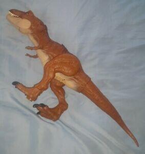 "JURASSIC WORLD Fallen Kingdom THRASH N THROW T Tyrannosaurus Rex 20"" Dinosaur"