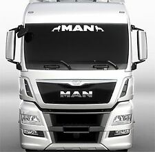 MAN Truck sun visor sticker/decal for cab lightbox or visor exterior fit