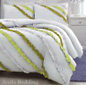 3 Piece Side Ruffle Duvet Cover Set 1000 TC Egyptian Cotton Queen Size all Color