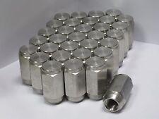 32 pack - 1/2-20 Solid 304 Stainless Steel Lug Nuts trailer wheel
