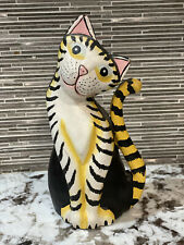 Cat Wooden figurine collectible