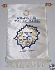 RARE Vintage Naarden Bussum Netherlands Rotary Club International Banner Flag