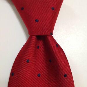 BROOKS BROTHERS Makers Men's Silk Necktie USA Designer POLKA DOT Red/Blue GUC