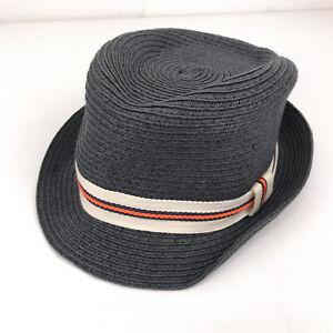 J Crew CrewCuts woven hat blue size S-M about 6 5/8 hbx35