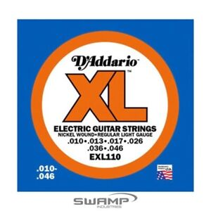 D'Addario EXL110 XL Nickel Wound Electric Guitar Strings - 10-46
