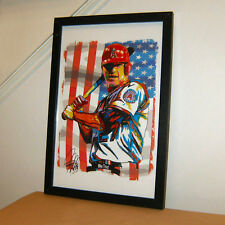 Mike Trout Los Angeles Angels of Anaheim Baseball Print Poster Wall Art 11x17