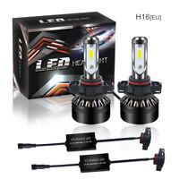 H16 5202 LED Headlight Bulb Kit COB 12000LM 6000K White Bulb Super Bright