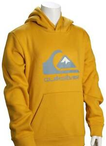 Quiksilver Boy's Big Logo Pullover Hoody - Nugget Gold - New