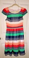 ModCloth Colorful Striped Dress - size small - scoop neck, pockets
