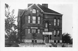 H73/ Monticello Iowa RPPC Postcard c1910 High School Building  57