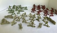 Soldiers Lanard Plastic Miniature toys Army Men Figures Accessories Lot of 52