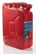 20L METAL JERRY CAN SIGNAL RED FOR UNLEADED FUEL, AUSTRALIAN STD AS / 206-1999