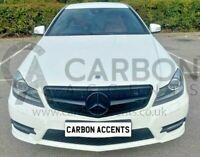 Mercedes C Class W204 AMG Front Grill Grille Gloss Black AMG C204 1 Fin