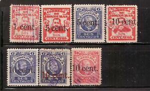 Honduras,Scott#162-168,used,Scott$16