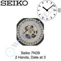 Genuine Seiko 7N39 Watch Movement 2 Hands, Date at 3
