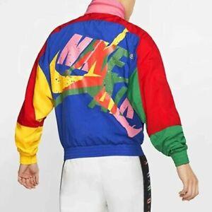 Nike Air Jordan Jumpman Classics Jacket Windbreaker Xl Colorblock CV7418-891