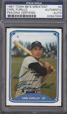 1987 TCMA BB'S GREATEST TEAMS #4 SIGNED CARD CARL FURILLO 55 DODGERS DEC PSA DNA